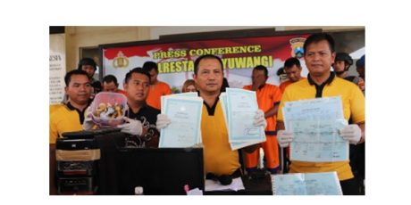 Polresta Banyuwangi Gulung Sindikat Pembuat Dokumen Kependudukan Palsu