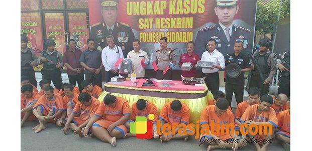 Polresta Sidoarjo Ungkap 21 Kasus Kriminal dan Kandangkan 25 Tersangka