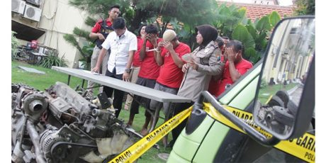 Polrestabes Surabaya Bongkar Sindikat Pencurian dan Jagal Truk Hingga ke Jateng