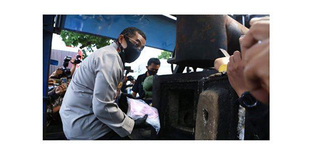 Polrestabes Surabaya Musnahkan 145 Kg Sabu