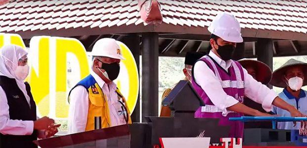 Presiden Resmikan Bendungan Senilai Rp1,1 T di Bendo Ponorogo