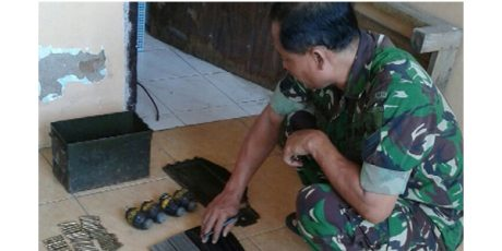 Puluhan Amunisi dan Granat Aktif Ditemukan di Rumah Warga Mojokerto