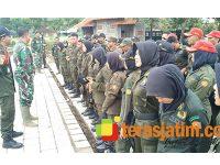 Puluhan Resimen Mahasiswa Jember Digembleng Satgas TMMD