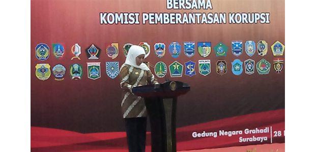 Gelar Rakor, Gubernur Sampaikan Hasil Evaluasi Pemberantasan Korupsi di Jatim