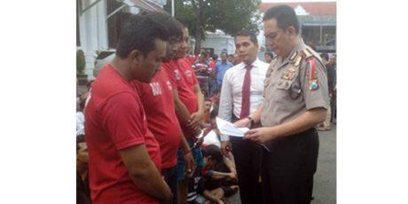 Rampas Puluhan Motor Nasabah, 3 Orang Debt Collector Ditangkap, 4 Lainnya Diburu