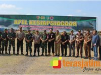 Ratusan Personel Gabungan di Kediri Gelar Latihan Penanggulangan Bencana