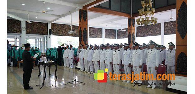 Resmi Dilantik, 113 Kades Terpilih di Pacitan Diminta Untuk Bekerja Ikhlas