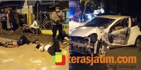Brio Tabrak Pagar Balai Desa, 1 Orang Tewas, 5 Terluka Parah