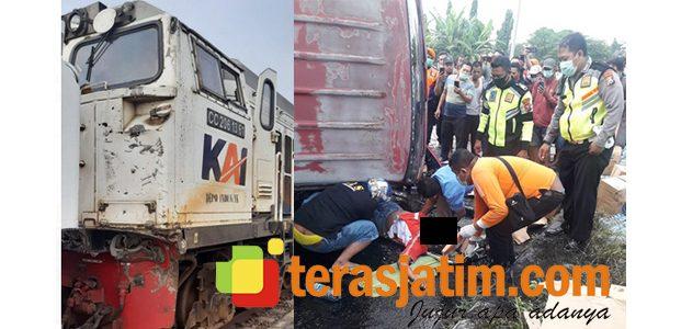 KA Hantam Truk di Krian Sidoarjo, Sopir Truk Tewas Tergencet