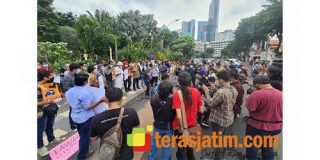 Tolak Kekerasan Terhadap Jurnalis, Koalisi Wartawan Sidoarjo Gelar Aksi Damai