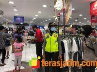 Jelang Lebaran, Polresta Sidoarjo Lakukan Pendisiplinan Pengunjung Mall