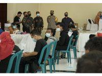 Ribuan Banser dan Komunitas di Sidoarjo Jalani Vaksin Covid-19