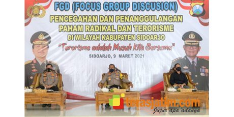 Cegah Paham Radikal, Polresta Sidoarjo Gelar Focus Group Discussion (FGD)