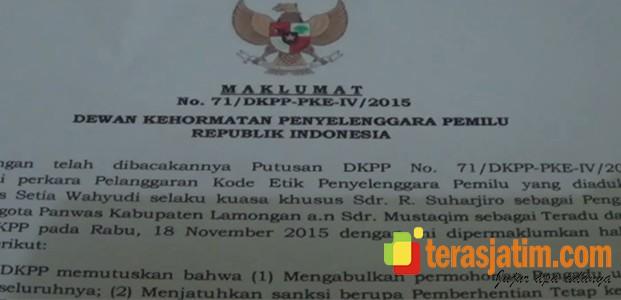 Pemberhentian Anggota Panwaslu oleh DKPP, Tidak Pengaruhi Proses Pilkada