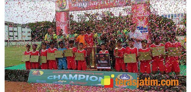 SSB KFFC Jombang Juarai Turnamen Sepak Bola KU-12 Piala Pangdam Brawijaya