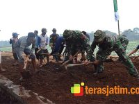Satgas TMMD Banyuwangi Garap Jalan Penghubung 2 Desa di Kecamatan Tegalsari