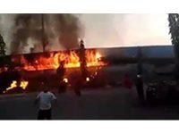 Sedang Direhab, Tribun Stadion Surajaya Lamongan Terbakar