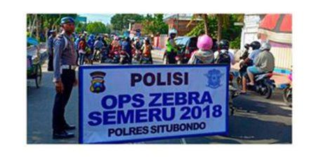 Selama Operasi zebra Semeru 2018, Polres Situbondo Tindak 1.638 Pelanggaran