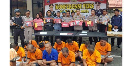 Sepekan Gelar Operasi Pekat, Polres Blitar Kota Kandangkan 11 Pelaku Kriminal