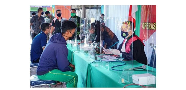 Razia Prokes di Pasar Baru Magetan, 24 Orang Pelanggar Langsung Disidang