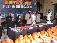 Januari hingga Juni 2021, Polres Tulungagung Ungkap 86 Kasus Narkotika