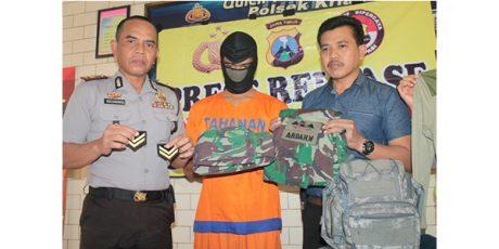 TNI Gadungan asal Prambon Sidoarjo, Tipu Pacarnya Hingga Ratusan Juta