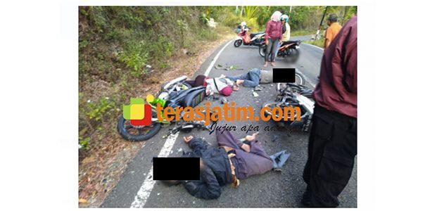Tabrakan Motor di Raya Punung-Goa Gong Pacitan, 1 Korban Tewas di TKP