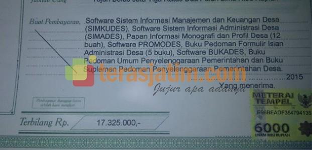Lamongan, Program Aplikasi Software Desa Di protes LSM