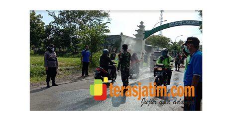 Putus Rantai Covid-19, TNI-Polri Gelar Razia Gabungan di Perbatasan Selatan Lamongan