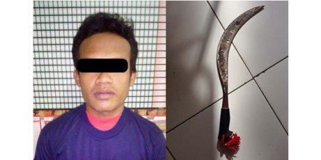 Tersinggung Saat Mabuk-Mabukan, Pria asal Dampit Malang Bacok Teman Sendiri