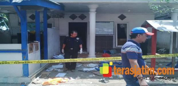Tim Forensik Polda Jatim Olah TKP Perusakan Fasilitas PT BSI