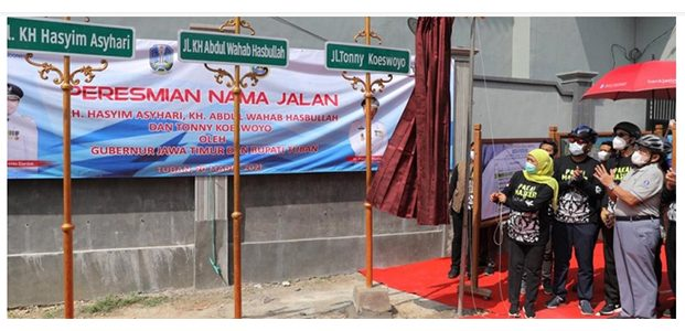 2 Tokoh Pendiri NU dan Dedengkot Band Koes Plus Jadi Nama Jalan di Tuban