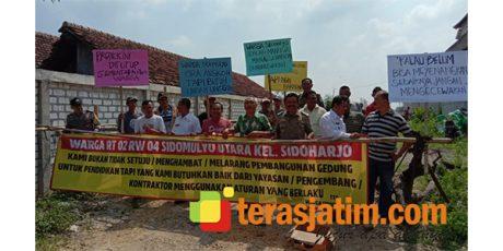 Warga Sidomulyo Utara Lamongan, Hentikan Proyek Pembangunan Universitas Muhammadiyah