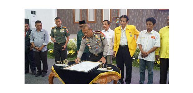 Gandeng Parpol dan KPU, Polrestabes Surabaya Gelar Deklarasi Pemilu Damai