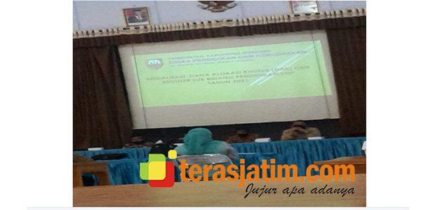 Dinas Pendidikan Jombang Gelar Sosialisasi DAK Fisik Bidang Pendidikan SMP Tahun 2020