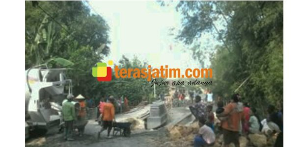 Jembatan 'Gladhak' Diganti Cor Beton, Warga di Kedungadem Bojonegoro Bahagia