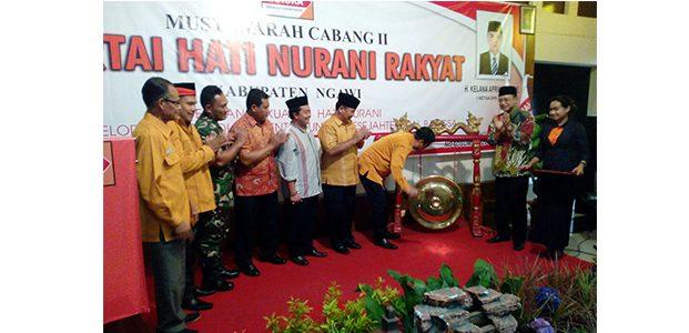 Muscab II Partai Hanura, H. Setyo Armodo Kembali Pimpin DPC Partai HANURA Kabupaten Ngawi