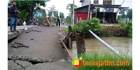 Jembatan Rusak Menyumbat Aliran Sungai, 70 Ha Padi Terancam Rusak