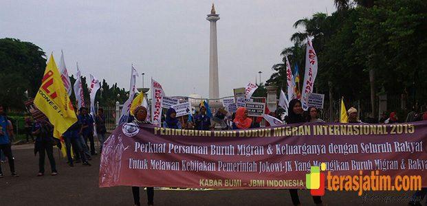 Migran Day, Komunitas Buruh Migran Gelar Aksi di Istana Merdeka