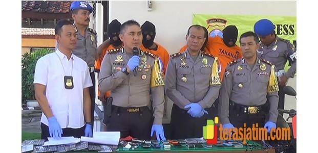 Polisi Gulung Komplotan Begal Blitar