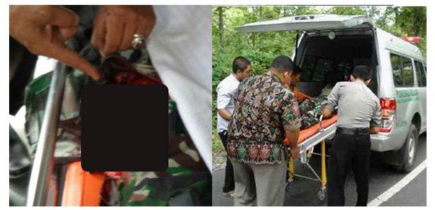 Seorang Anggota TNI, Tewas Akibat Tabrak Lari di Jalur Nganjuk-Bojonegoro