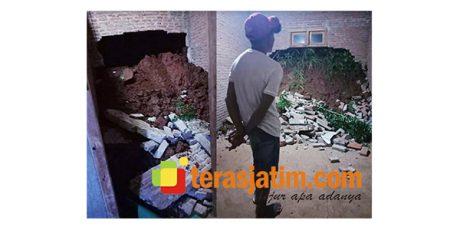 Akibat Longsor, Tembok Rumah Warga di Bandar Pacitan Jebol