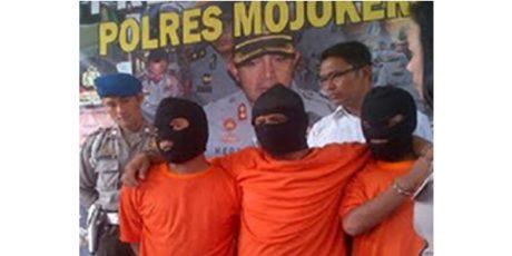 Polres Mojokerto Bekuk Kawanan Pembobol Minimarket Antar Kota