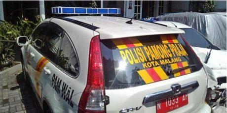 Mobil Patwal Satpol PP Kota Malang, Ditahan Polisi