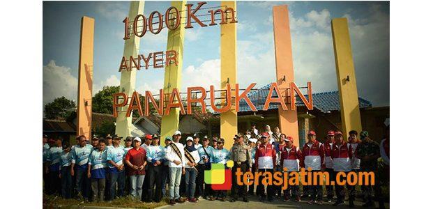 Kedatangan Obor Asian Games Disambut di Monumen 1.000 KM Anyer-Panarukan