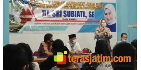 Gelar Reses di Pacitan, Sri Subiati (Anggota DPRD Prov Jatim), Soroti Infrastuktur