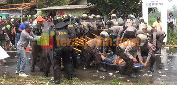 Polisi Blitar, Simulasi Pengamanan Pilkada Calon Tunggal