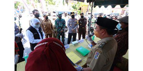 Gubernur Bersama Pangdam dan Kapolda, Buka Gerakan Lawan Covid-19 di Tuban