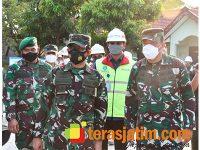 Pangdam Sidak Pengerjaan Rumah Dinas di Kompi Senapan Tuban