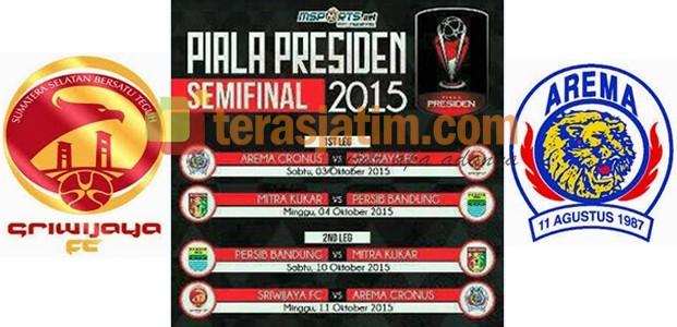 Semifinal, Arema vs Sriwijaya FC